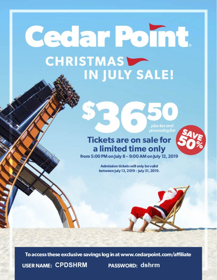 Christmas In July Sale Images.Cedar Point Christmas In July Sale Mishrmblog
